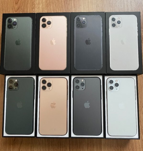 Apple iPhone 11 Pro 64GB = €400,iPhone 11 Pro Max 64GB =€430 , iPhone 11 64GB = €350, Whatsapp : +27642105648